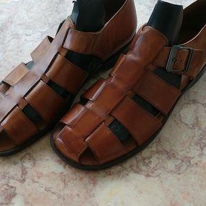 Johnson & Murphy Leather Gladiator Up&Sole Sandals